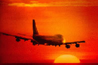 Plane into the Sunset