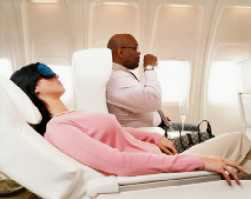 Drink plenty of fluids on board during your flight to avoid dehydration