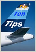 Top Ten Airplane Travel Tips